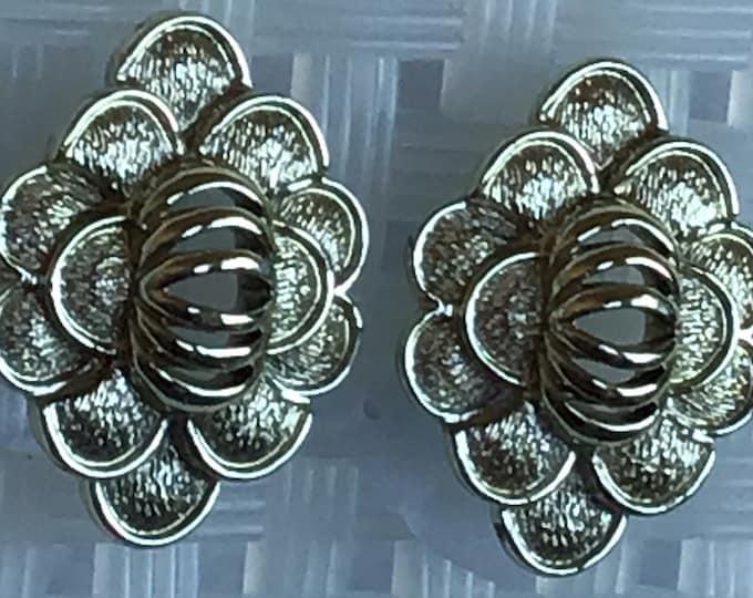 Coro silver plated clip earrings