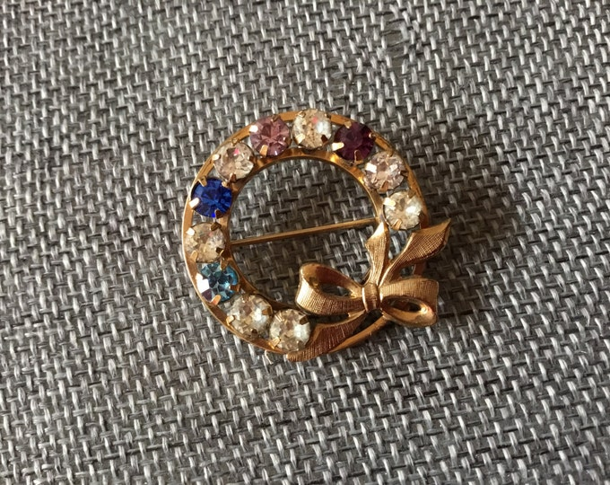 Vintage brooch 12k gf  marked Trifari and Krussman