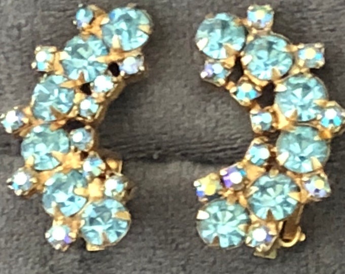 Vintage rhinestone clips