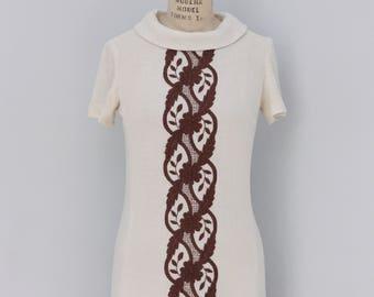 Summer In the Park // Vintage 1960s Linen Dress // White 60s Dress