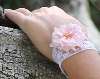 Preserved flowers bracelet Elsa for wedding,