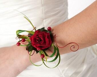 Preserved flowers bracelet Vanessa , natural flowers for your wedding, bridemaids bracelet,