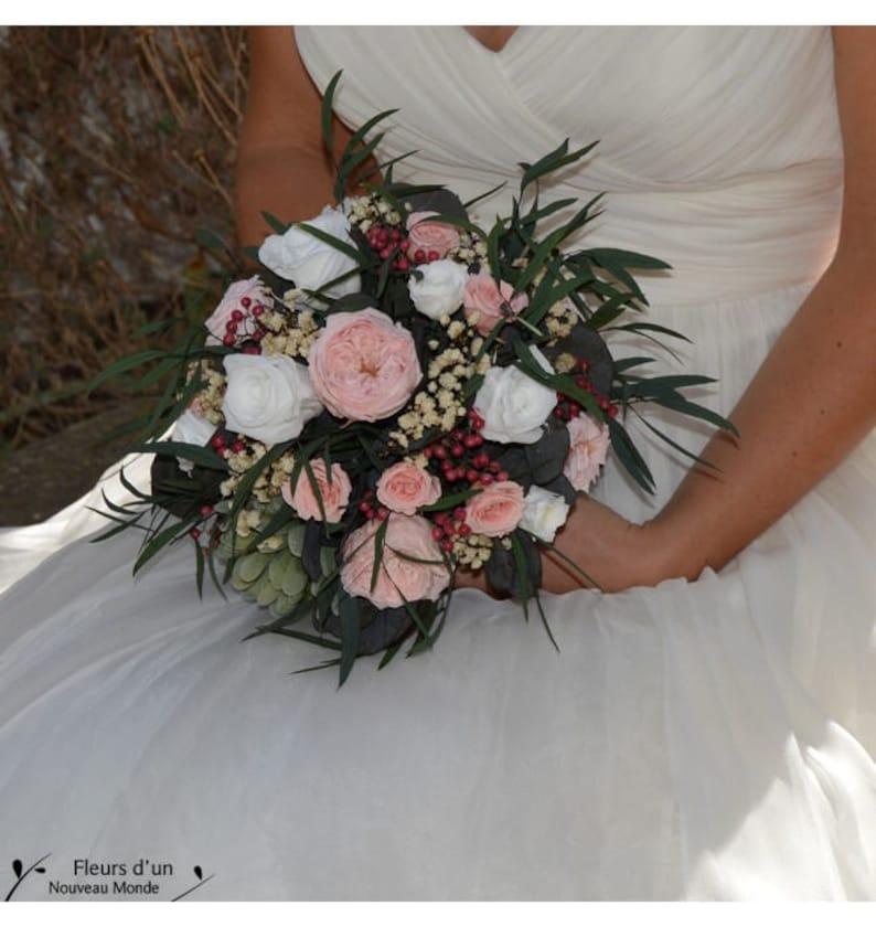 Wedding bouquet preserved flowers Boho bouquet romantic bridal bouquet preserved real flowers 2017 wedding trends keep your bouquet