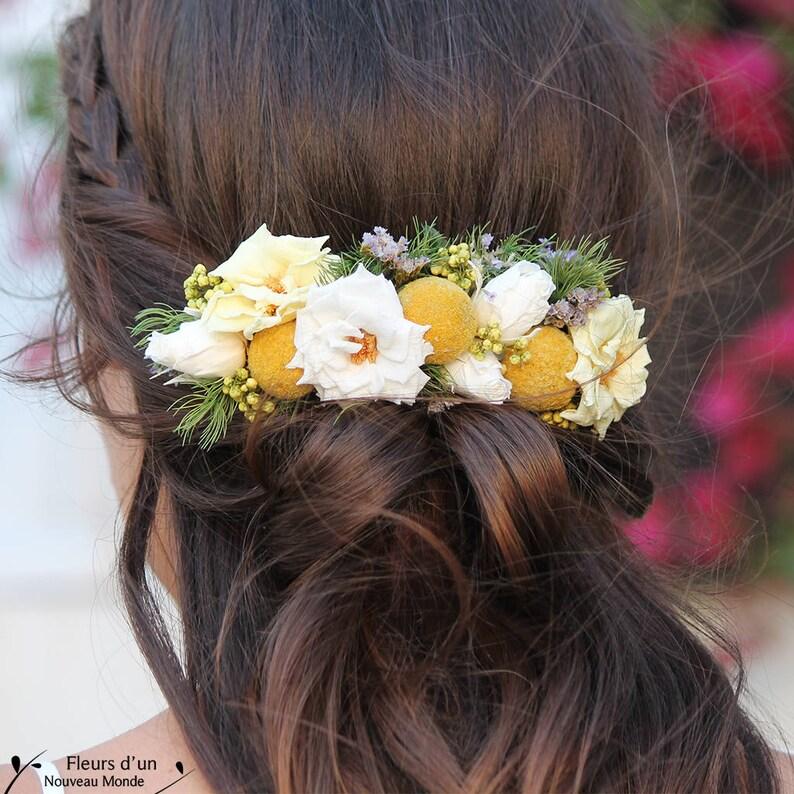 jolie et colorée Excellente qualité Couleurs variées Peigne fleuri