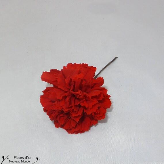 Pic Oeillet Stabilise Fleurs Pour Cheveux Fleur Naturelle Etsy