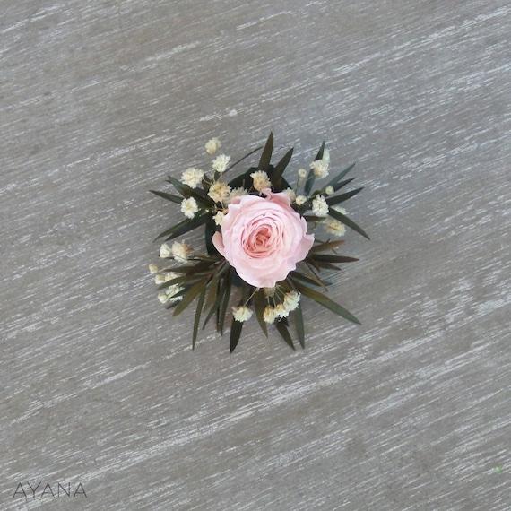 Unique Handmade Corsage Mariage Groom Fleur Boutonnière 3 couleurs Men/'s accessoire