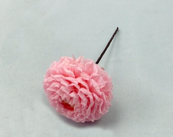 Stabilized dahlia on peak, preserved flower peak for wedding hairstyle, flower on hair clip or peak for bridal hairstyle