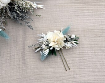 """Hairpin """"Giuliana"""", dried and preserved flowers comb, Provence wedding hairstyle accessory"""