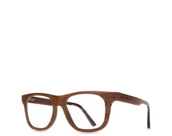 a072baeedb Cherry Wood Optical Glasses Wooden Eyeglasses Frame Clear Lenses Hipster  Thick Natural Personalized glasses Uni Reading Wood Glasses Gift