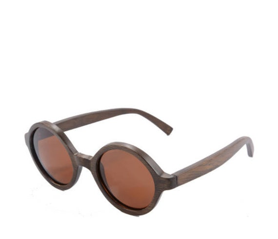 ec0c5a1e76 BROWN WOODEN Retro SUNGLASSES Personalized Gift Wooden Brown