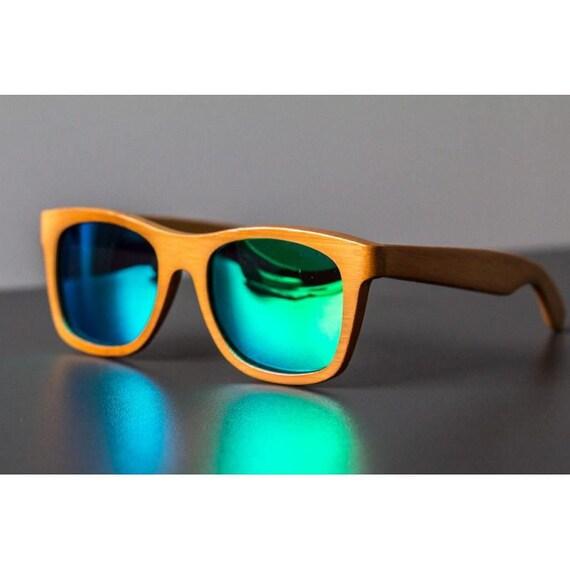 b19ef18849c7d0 BAMBOU vert lunettes de soleil en bois surfeur Style plage   Etsy