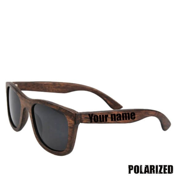 fbc9ee4dad BROWN BAMBOO SUNGLASSES Polarized Wooden Sunglasses Black