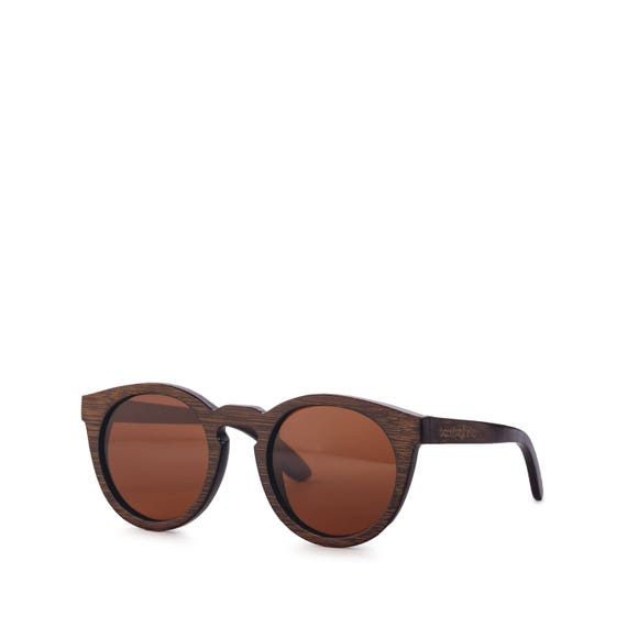 7809f254f7 BROWN BAMBOO SUNGLASSES Wooden Polarized Beach Surfer Style