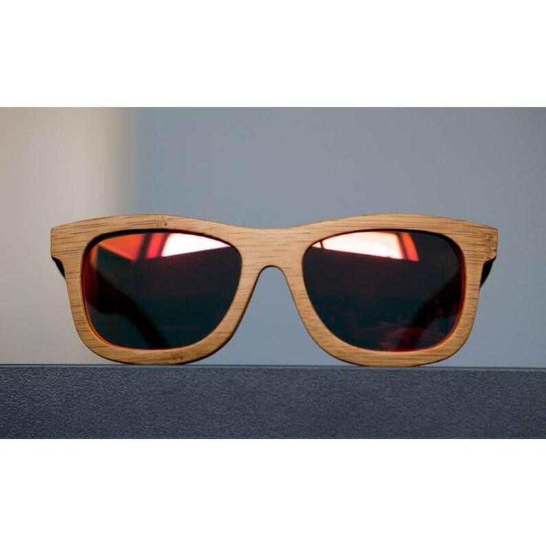 975ca3f9b0 BAMBOU rouge Lunettes de soleil en bois surfeur Style Boho | Etsy