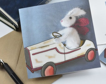Hare we go greetings cards, fun, retro
