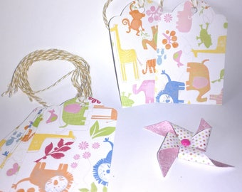 Label (set of 10) - mixed animal birth gift