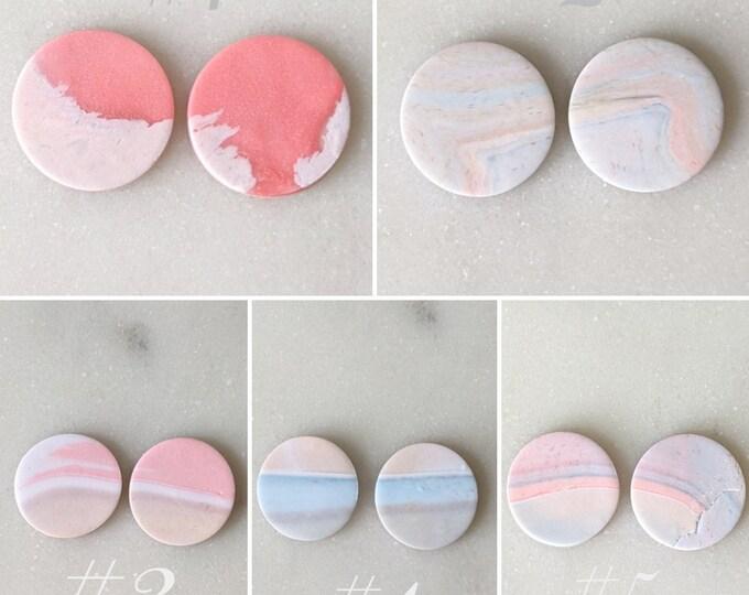 Pastel Marble Earrings