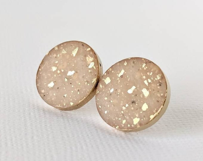 Nude Faux Stone Studs