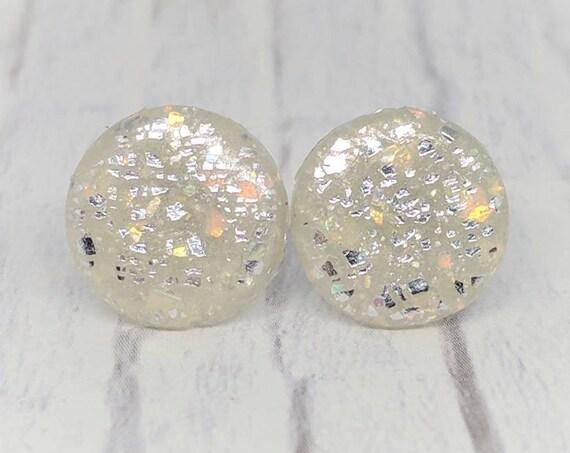 Faux Opal Earrings