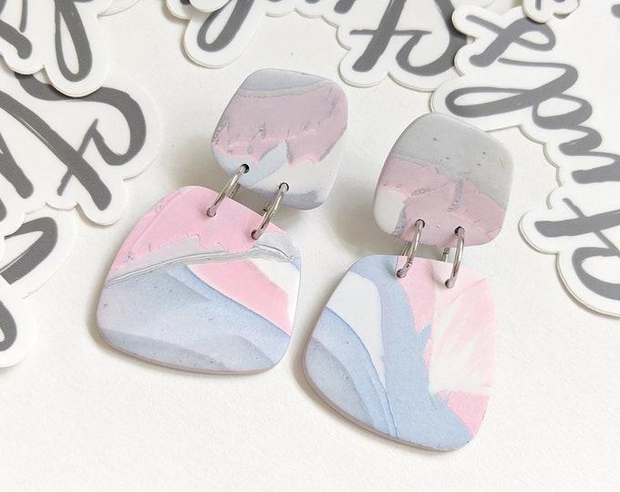 Pastel Statement Earrings