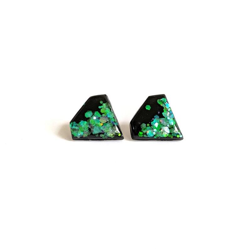 Diamond shaped studs sparkly earrings lightweight earrings image 0