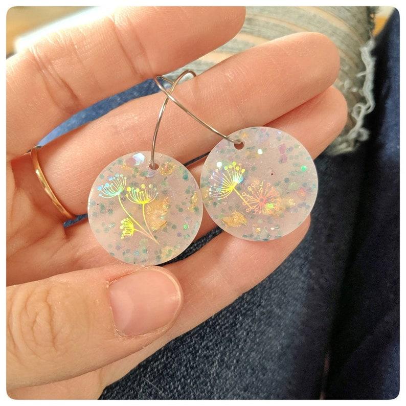 Dandelion earrings dandelion jewelry make a wish jewelry image 0