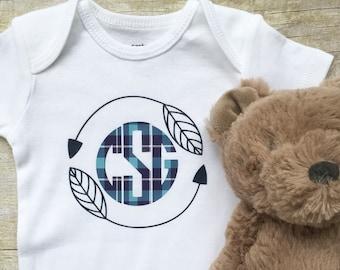 Personalized Onesie, Baby Boy Monogrammed Onesie, Newborn Onesie, Personalized Baby Clothes, Baby Onesies, New Mom Gift, Newborn Clothes