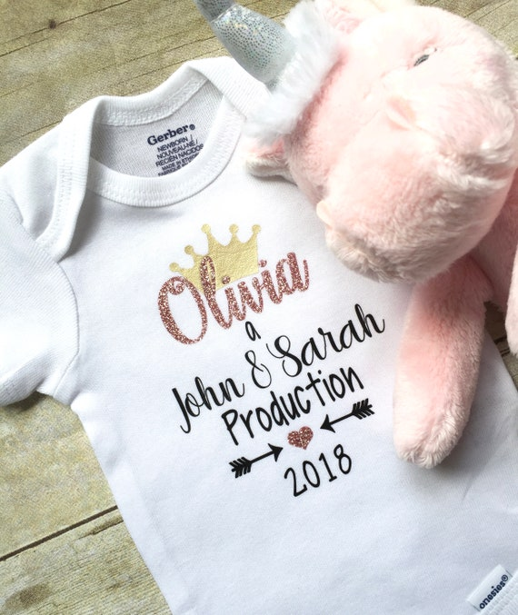 Pregnancy Announcement Onesie Infant Clothing Newborn Onesie Custom Onesie Personalized Baby Clothes Bodysuits Infant Girl Clothing
