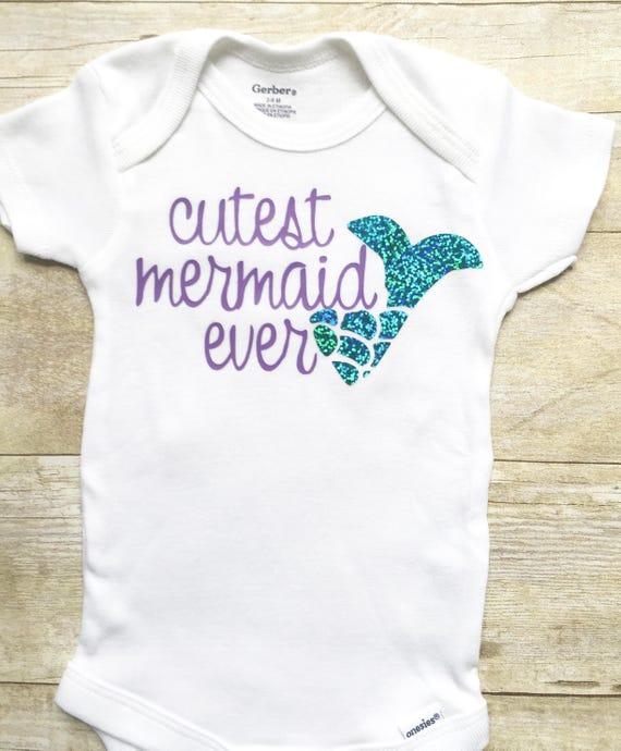 Sale Onesie Mermaid Onesie African American Baby Girl Clothes Newborn Girl Onesie Cute Baby Onesie Mermaid Birthday Outfit  18 Months