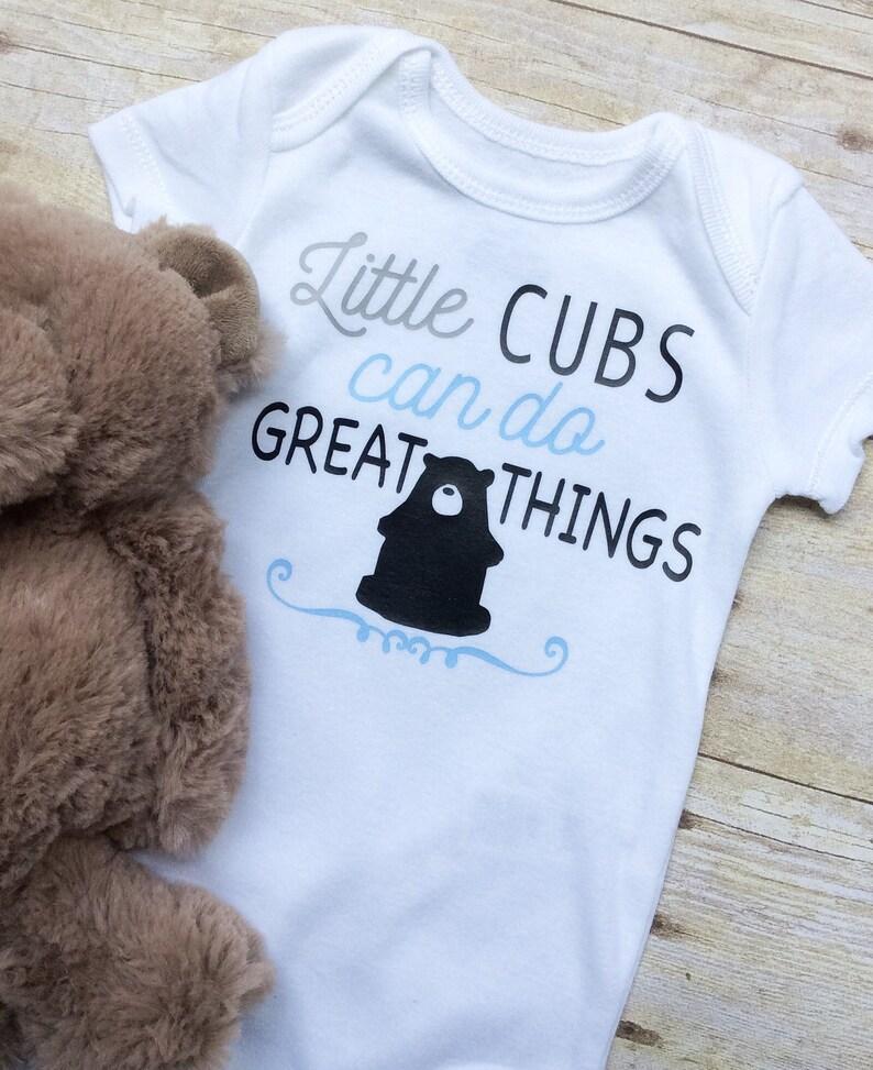 Little Bear Onesie Baby Boy Clothes Baby Boy Bodysuit Little Cubs Onesie Baby Boy Onesie Baby Clothes