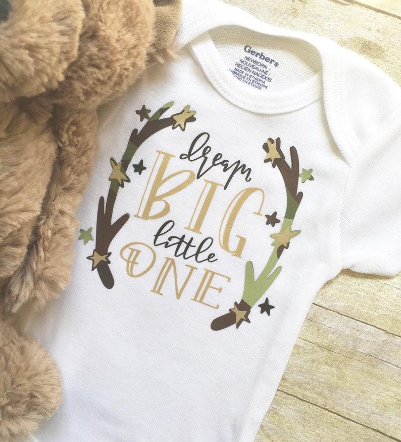 Baby Boy Outfit New Dad Gift Baby Shower Gift Country Baby Onesie Baby Boy Onesie Dream Big Onesie Infant Clothing Newborn Onesie