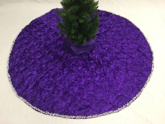 Purple Tree Skirt Purple Christmas Tree Skirt Roses Winter Roses Collection