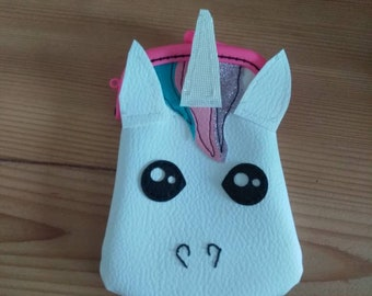 Kawaii Unicorn wallet in faux leather clasp