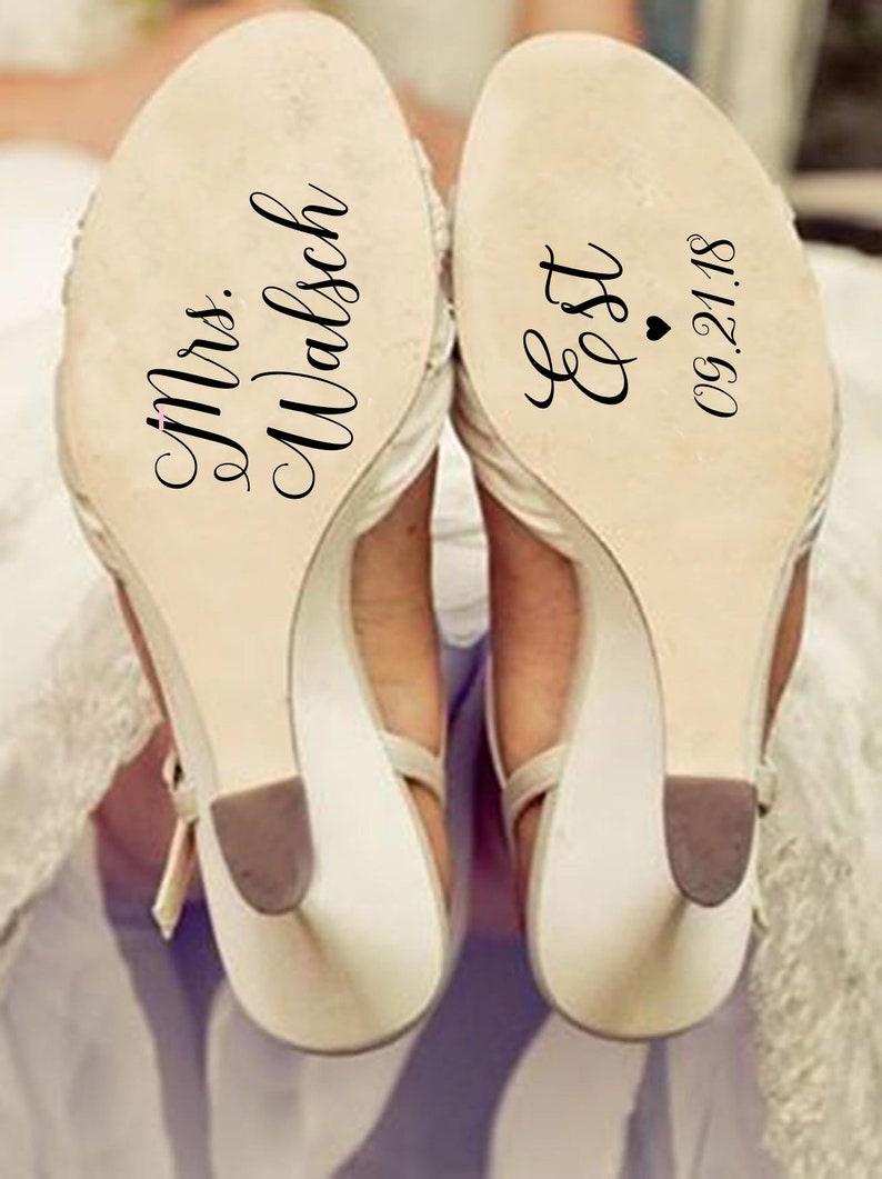 d480244940c Custom shoe decal  wedding shoe decals  wedding shoe stickers