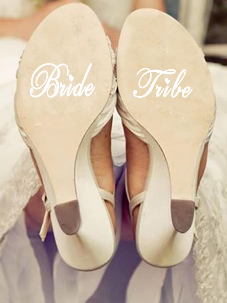 e83db7ebccbe Wedding Shoes Decal  Personalized Wedding Shoe Sticker