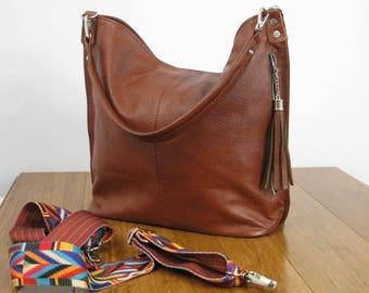 c093c008dd Cognac Brown Hobo Bag
