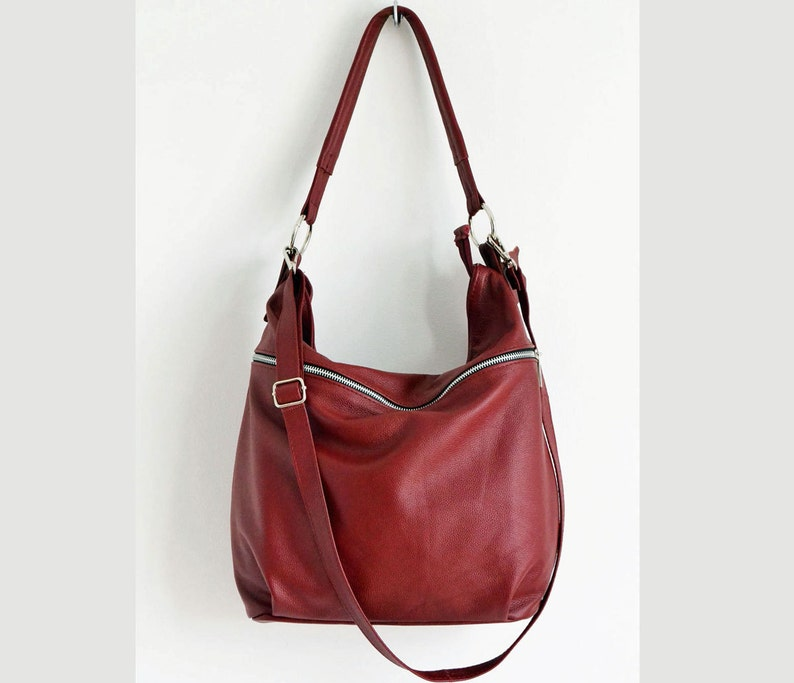 825a9bf3fa76 Large Leather Hobo Bag Crossbody Bag Everyday Leather