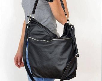 BLACK LEATHER HOBO Bag, sale-20%,  Crossbody Bag - Everyday Leather, Shoulder Bag,Slouchy leather hobo,Natural leather,hobo bag