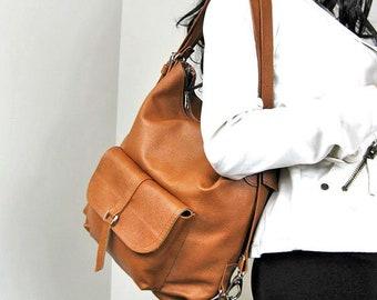 Multi-functional bag can be used as women backpack, women shoulder bag, women handbag or cross-body bag.
