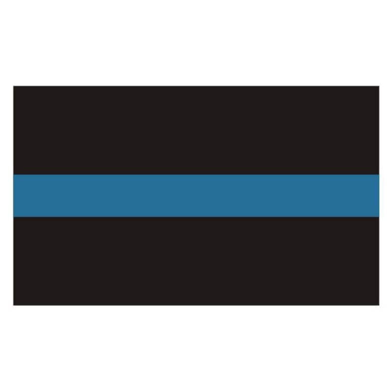 Oklahoma OK State Thin Blue Line Police Sticker Decal #213 Made in U.S.A.