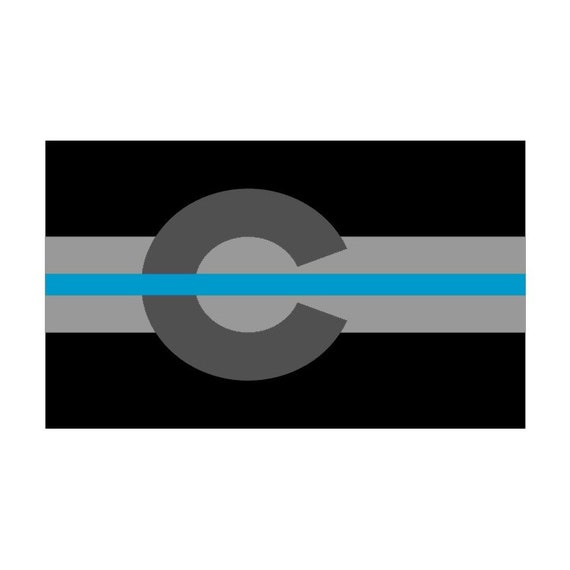 Decal #274 Made in USA Oklahoma OK State Flag Thin Blue Line Police Sticker