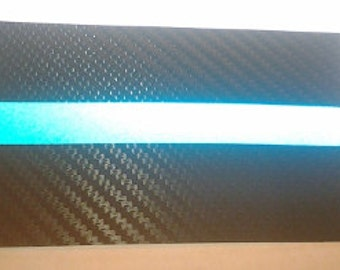 Tactical Carbon Fiber Thin Blue Line Police Law Enforcement Decal / Sticker w Reflective Stripe #163 Made in U.S.A.