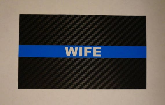 Tactical Carbon Fiber Reflective Thin Blue Line Police Sticker Decal Made in USA