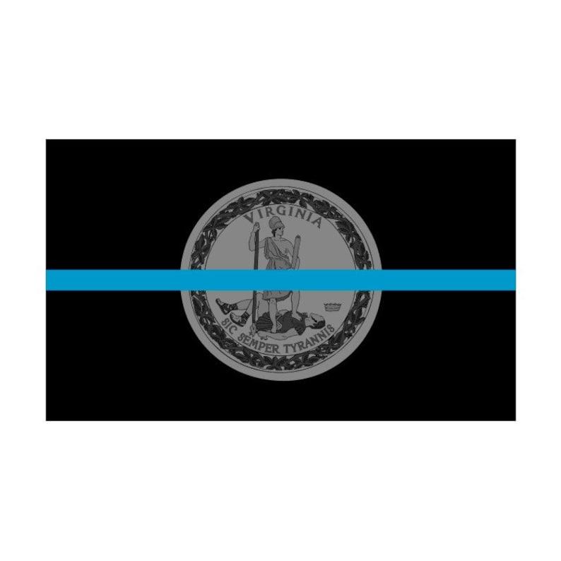 Decal #286 Made in USA Washington WA State Flag Thin Blue Line Police Sticker