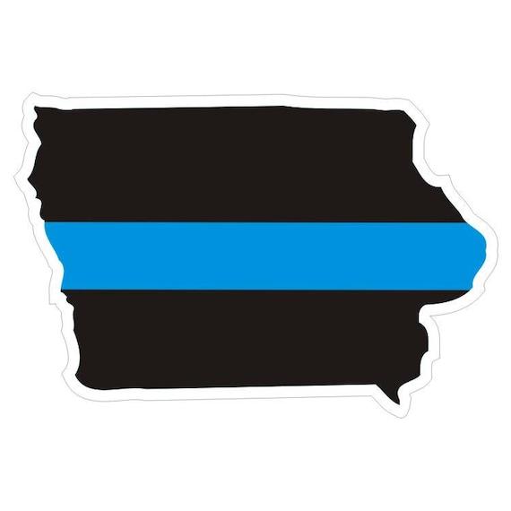Decal #172 Made in U.S.A. Arizona AZ State Thin Blue Line Police Sticker