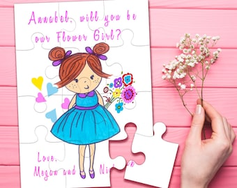 Flower girl coloring | Etsy