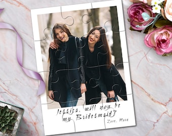 Photo Maid of Honor Puzzle, Maid of Honor Photo Gift, Maid of Honor Proposal, Custom Will You Be My Maid of Honor Photo Puzzle