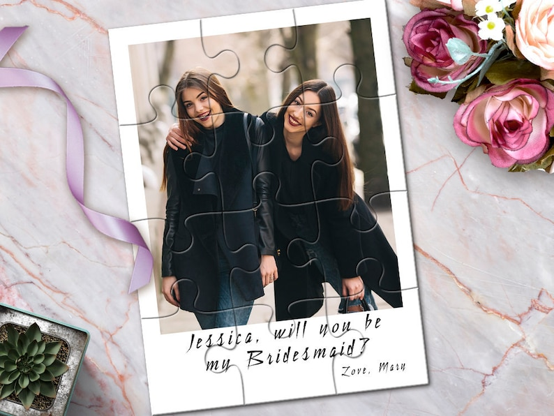 Photo Maid of Honor Puzzle Maid of Honor Photo Gift Maid of image 0