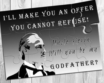 Puzzle Invitation for Godfather, Will you be my Godfather, Will you be our Godfather, Godfather gift, Godfather Proposal, Godfather Invite