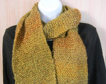 Hand Knitted Scarves-Bourbon